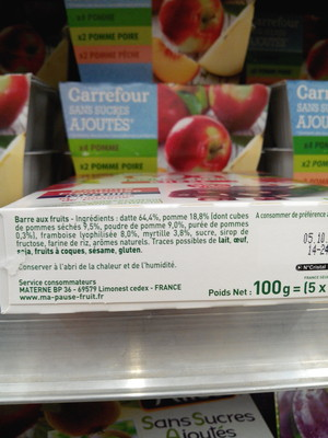 Ma pause fruit Barre pomme framboise myrtille - 2