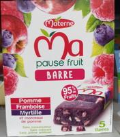 Ma pause fruit Barre pomme framboise myrtille - Produit