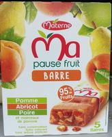 Ma pause fruit Barre pomme abricot poire - Produit - fr