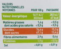 Ma pause fruit Barre pomme abricot poire - Informations nutritionnelles - fr