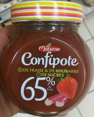 Confipote Fraise & de Rhubarbe - Product - fr
