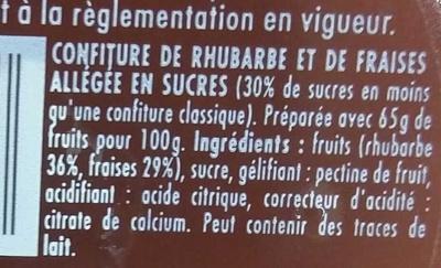 Confipote Fraise & de Rhubarbe - Ingrediënten - fr