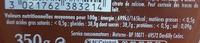 Confipote Fraise & de Rhubarbe - Voedingswaarden - fr
