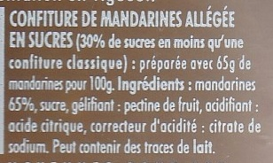 Confipote Mandarine - Ingrediënten