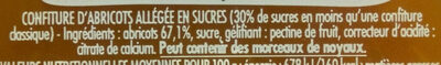 Confipote l'abricot - Ingredients
