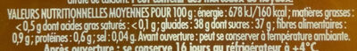 Confipote l'abricot - Nutrition facts