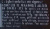 Confipote Framboise - Ingrediënten - fr