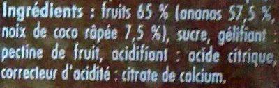 Confipote ananas & coco - Ingrédients