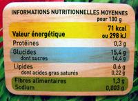 Pom'Potes Pomme nature Bio Materne - Informations nutritionnelles