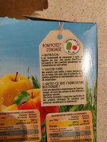 POM'POTES BIO SSA Pomme/Pomme Mirabelle/Pomme Framboise/Pomme Banane 12x90g - Nutrition facts - fr