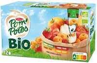 POM'POTES BIO SSA Pomme/Pomme Fraise/Pomme Abricot/Pomme Poire 12x90g - Produit - fr