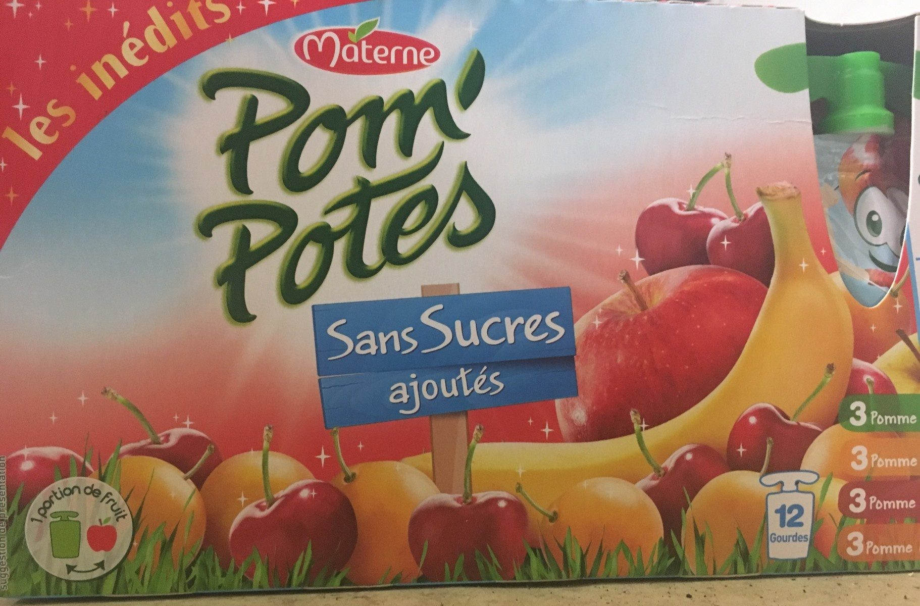 Pom' potes les inedits sans sucres ajoutés - Product