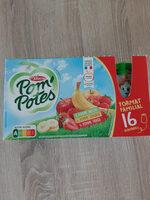 POM'POTES Pomme/Pomme Banane/Pomme Fraise 16x90g Format Familial - Produit - fr