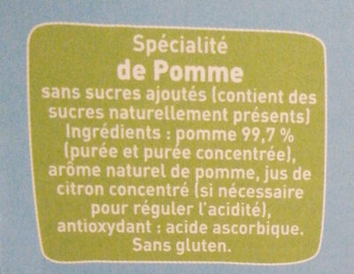 pom potes - Ingredients