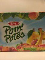 POM'POTES Pomme Abricot/Pomme Poire/Pomme Fraise/Pomme Banane 20X90g Format Familial - Product - en