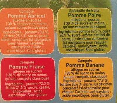 Pom'Potes Multivariété, 20x90g - Ingrédients - fr