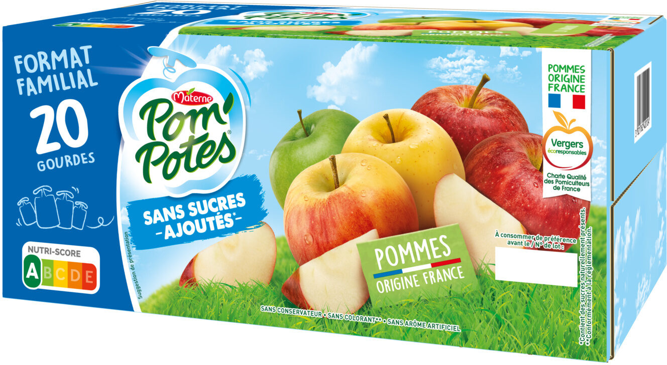 POM'POTES SSA Pomme Nature 20x90g Format Familial - Product - fr