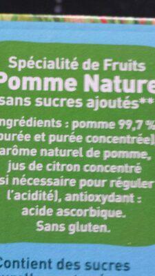 POM'POTES SSA Pomme Nature 20x90g Format Familial - Ingrediënten - fr