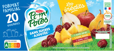 POM'POTES SSA Les Inédits Pomme/Pomme Ananas/Pomme Cerise/Pomme Poire 20X90g Format Familial - Produit