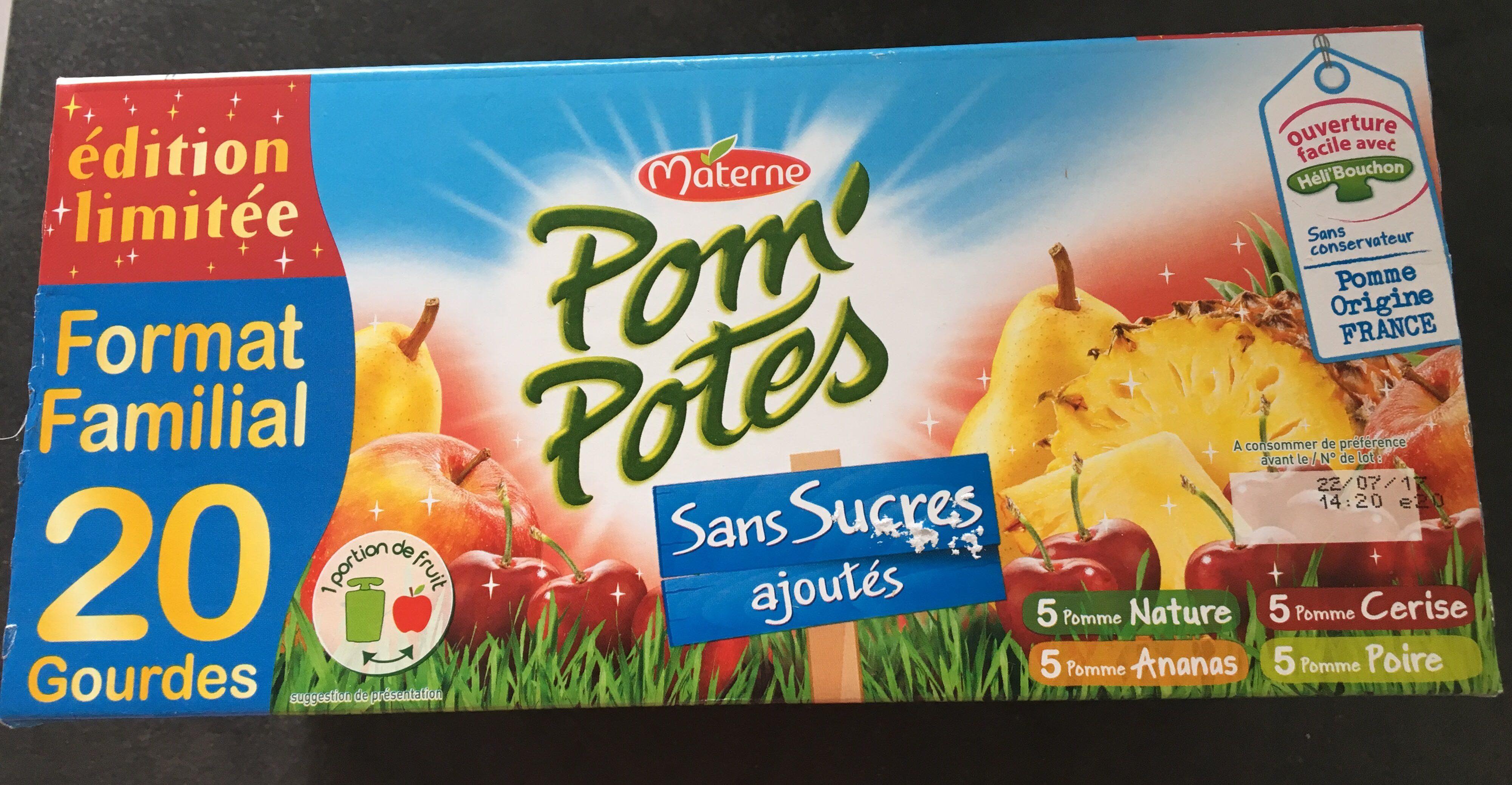 Pom'potes sans sucres ajoutés (format familial) - Produit - fr