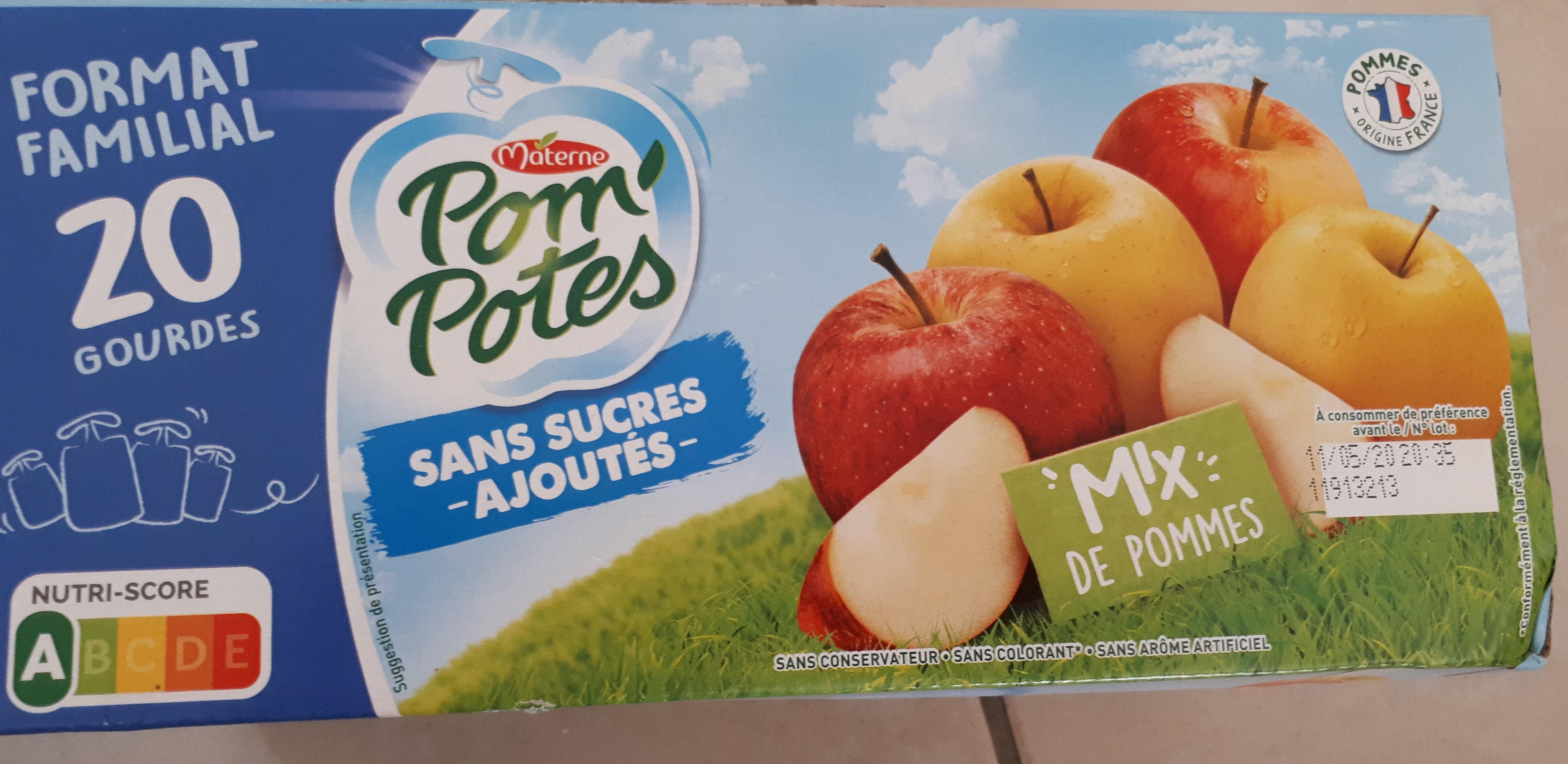 Pom' potes mix de pommes sans sucres ajoutés - Product