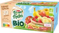 POM'POTES BIO SSA Pomme/Pomme Fraise/Pomme Banane 20x90g Format Familial - Produit - fr