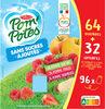 POM'POTES SSA Pomme/Pomme Fraise/Pomme Framboise 96x90g 64+32 Offertes - Produit