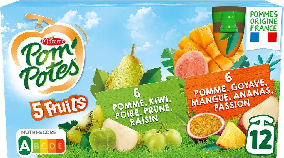 POM'POTES SSA 5 Fruits Pomme Tropical/5 Fruits Verts - Produit - fr