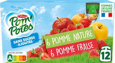 POM'POTES SSA Pomme/Pomme Fraise - Produit - fr