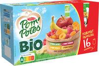 POM'POTES BIO SSA Pomme/Pomme Framboise/Pomme Mirabelle/Pomme Banane 16x90g Format Familial - Produit - fr