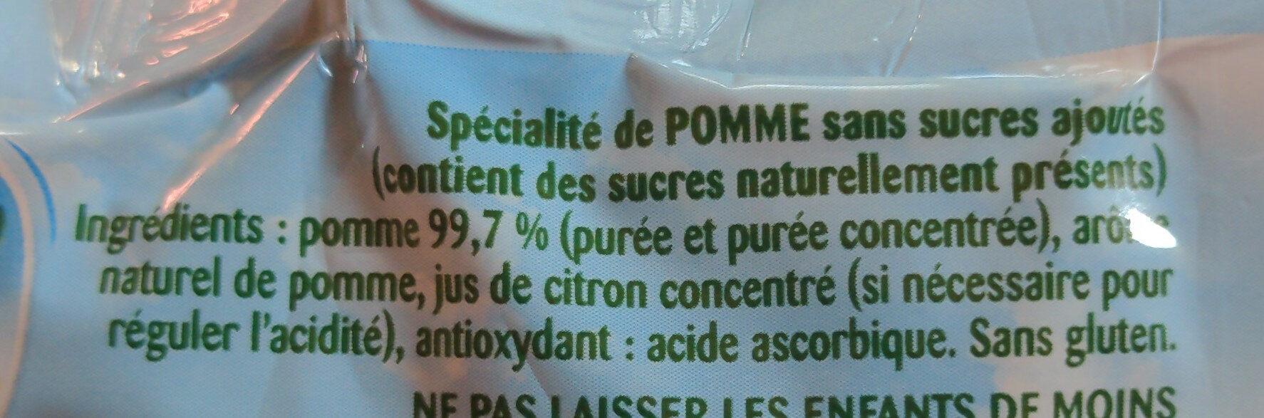Pom'Potes (Pomme) - Ingredients - fr