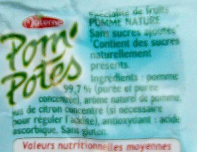 Pom'Potes (Pomme) - Ingredients