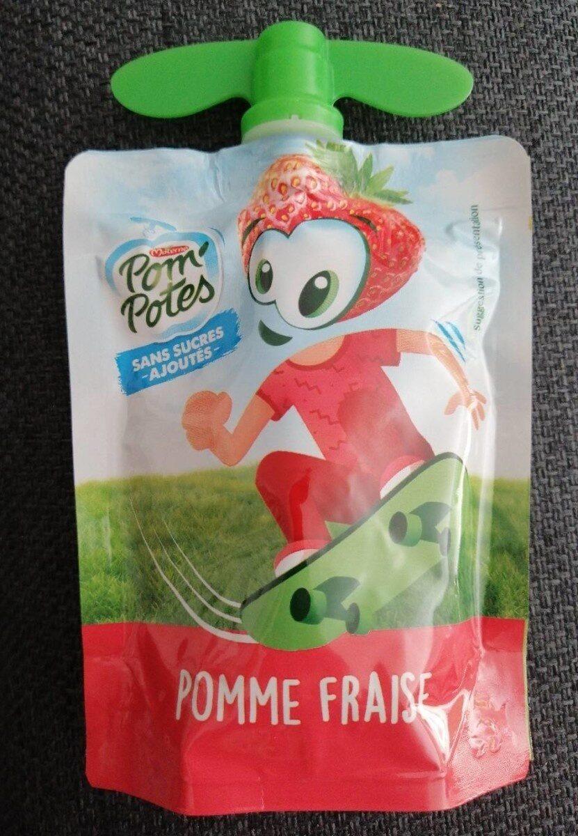 Pom'Potes (Pomme/Fraise) sans sucres ajoutés - Product - fr
