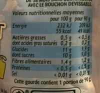 Pom'Potes (Pomme/Fraise) sans sucres ajoutés - Voedingswaarden - fr