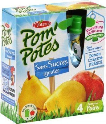 Pom'Potes Pomme Poire Sans sucres ajoutés - Product - fr