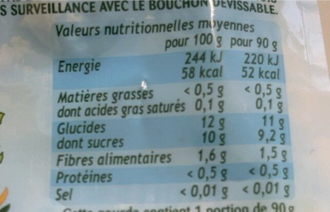 Pom'Potes Pomme Poire Sans sucres ajoutés - Nutrition facts - fr