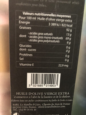 Le moulin d'uzes - Nutrition facts - fr