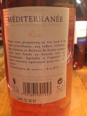 Méditerranée - Ingrédients