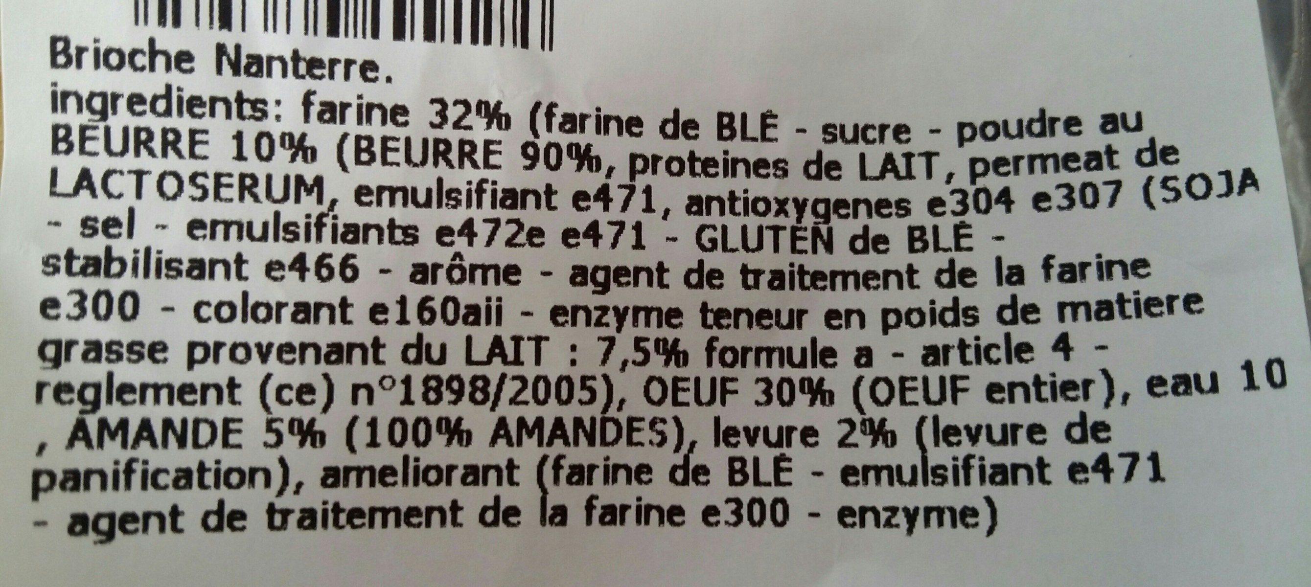 Brioche Nanterre - Ingrediënten - fr