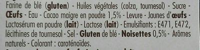 Beignet choco noisette - Ingrédients - fr