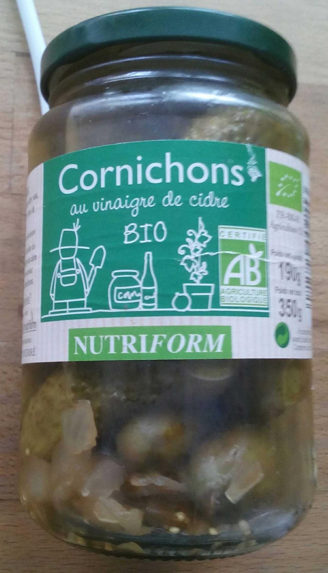 Cornichons au vinaigre de cidre Bio - Produit - fr