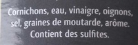 Cornichons au vinaigre - Ingredients - fr