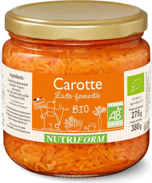 Carotte lacto-fermentée BIO Nutriform - Produit - fr