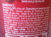 Bocal 85CL Choucroute Garnie Christ - Ingrédients - fr
