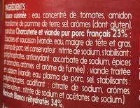 Cassoulet - Pur Porc - Ingrédients