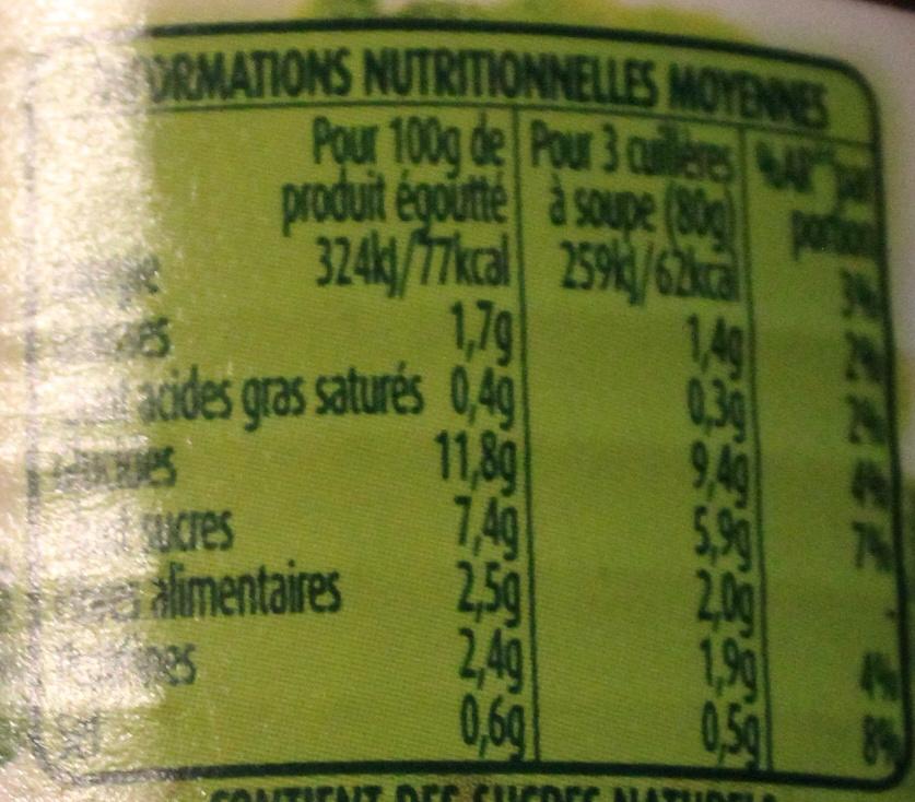 Maïs Ultra Croquant sans sucres ajoutés - Voedingswaarden - fr