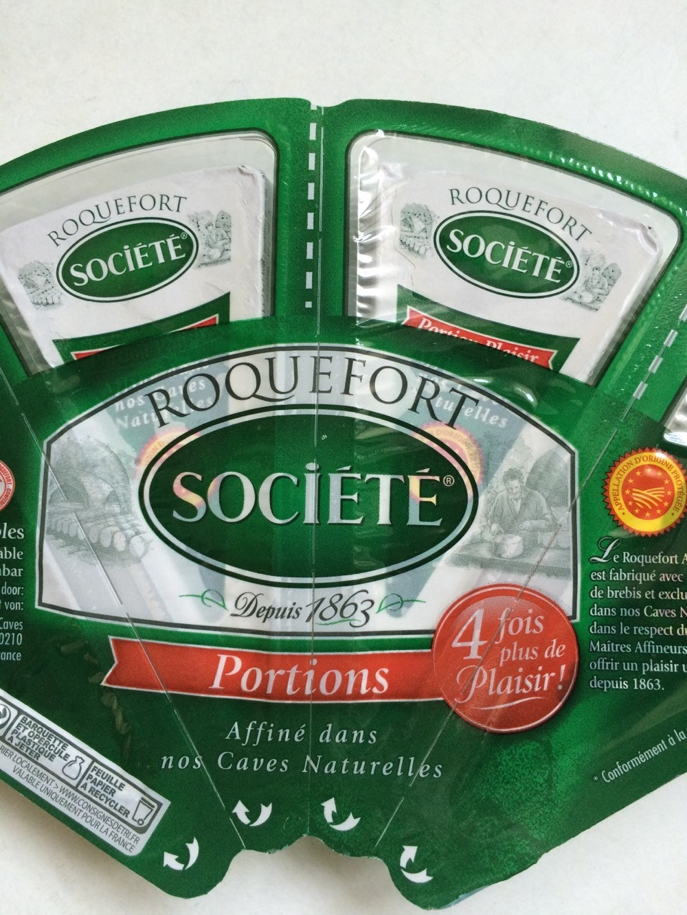 Roquefort société portions - Produit