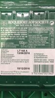 Societe Tranches Roquefort - Informations nutritionnelles