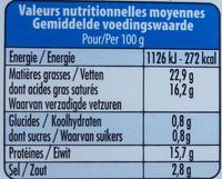 Natur Schafmilch - Nährwertangaben