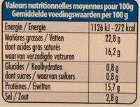 Salakis - Informations nutritionnelles - de